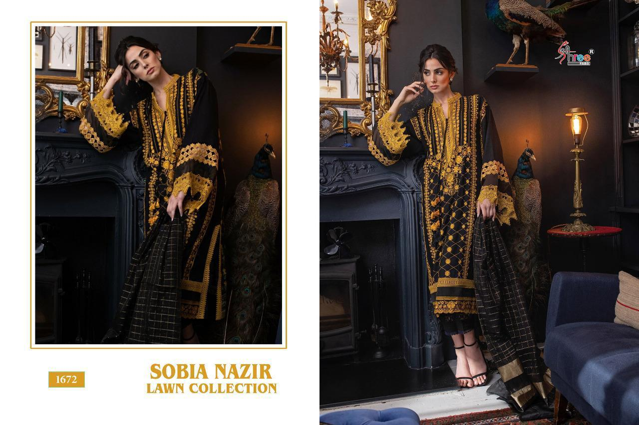Shree Fab Sobiya Nazir Lawn Collection Latest Lawn Cotton Pakistani Suit Concept At Wholesale Price
