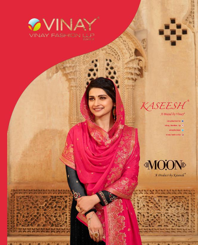 Vinay Fashion Kaseesh Moon Georgette With Schiffli Embroidery Work Salwar Kameez At Wholesale Rate